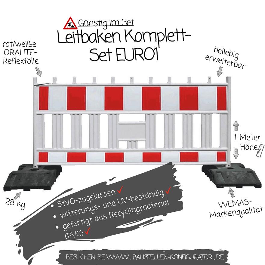 Leitbaken Komplett-Set EURO1